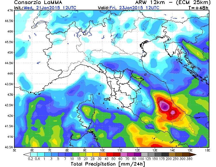 Maltempo Marche e Abruzzo: attese forti piogge e abbondanti nevicate