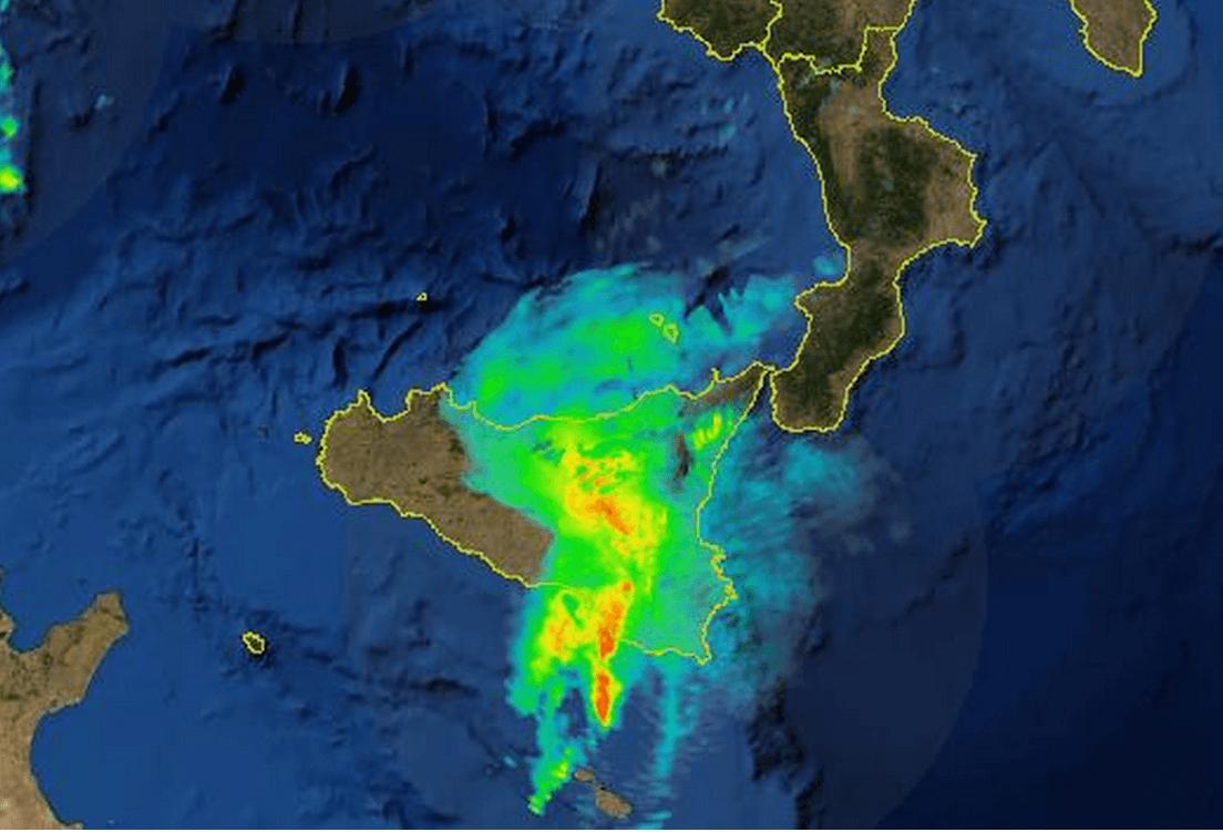 Forti temporali stanno colpendo la Sicilia: radar e previsioni
