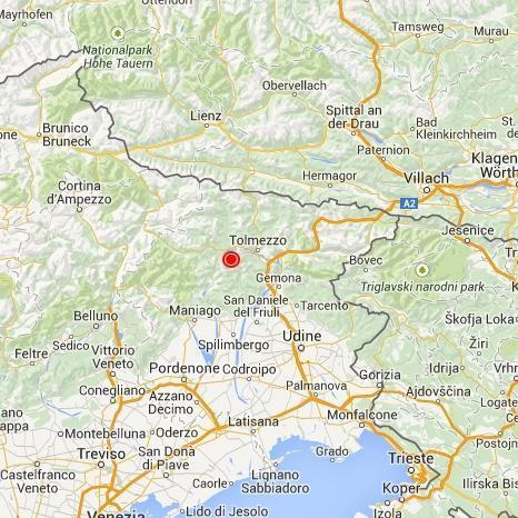 Cartina Friuli Venezia Giulia E Veneto.Terremoto Oggi Friuli Venezia Giulia Scossa Fra Gemona E Tolmezzo