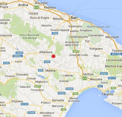 Cartina Puglia Altamura.Terremoto Puglia Oggi Scossa Fra Altamura E Santeramo In Colle