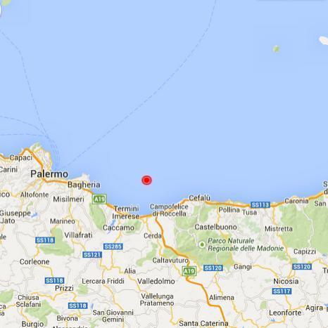 Cartina Sicilia Termini Imerese.Terremoto Sicilia Scossa Ben Avvertita Nella Notte Fra Bagheria Termini Imerese Lascari Cefalu