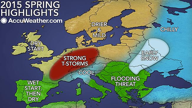 Meteo Primavera: le prime tendenze elaborate da Accuweather