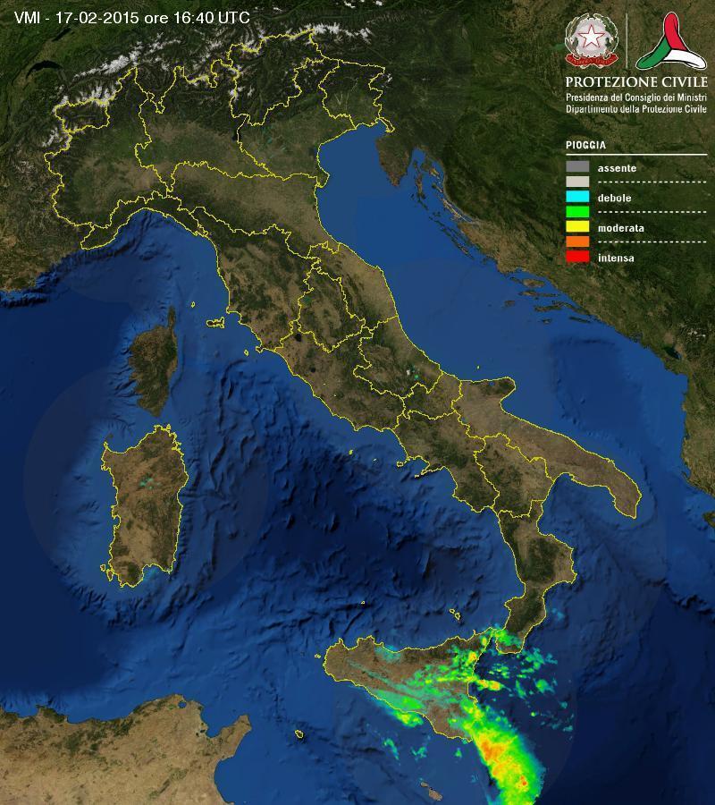 Meteo in diretta: intense e abbondanti piogge interessano la Sicilia