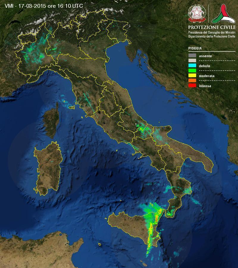Situazione meteo in diretta: forti temporali al Sud e piogge al Nord, come evolverà