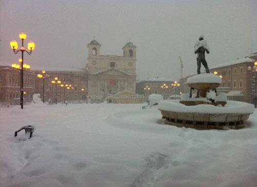 Previsioni meteo l'Aquila, Abruzzo: freddo e abbondanti nevicate in arrivo