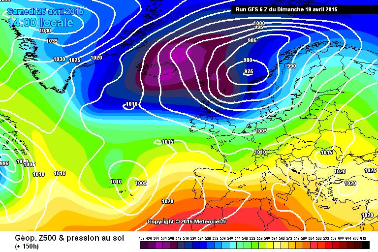 Fine Aprile, tornano le perturbazioni atlantiche?