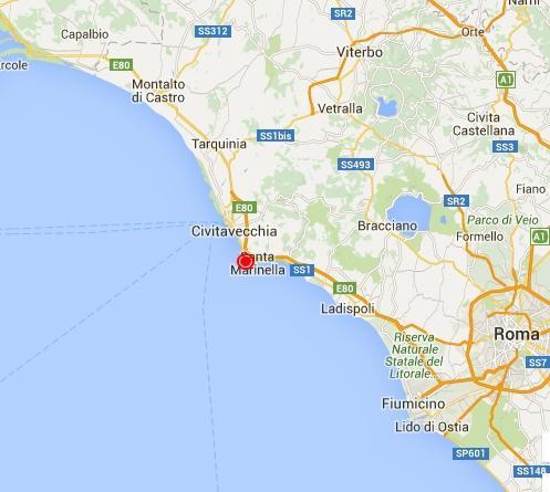 Cartina Italia Civitavecchia.Terremoto Lazio Oggi Scossa Avvertita A Civitavecchia Santa Marinella