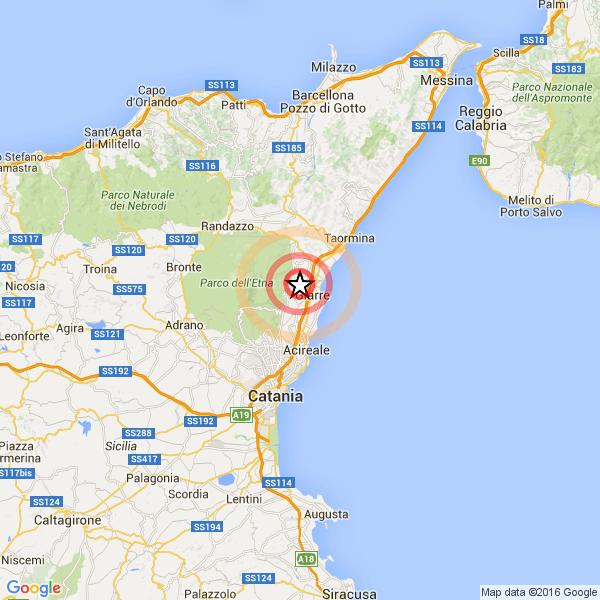 Sicilia Altro Debole Ma Superficiale Terremoto Fra Giarre Mascali
