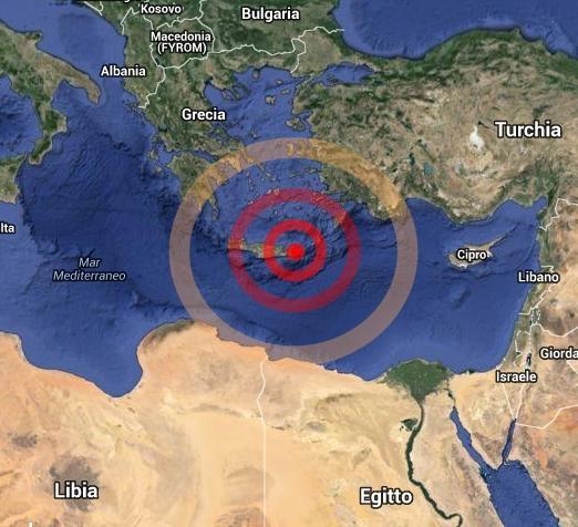 La scossa di terremoto al largo di Siracusa