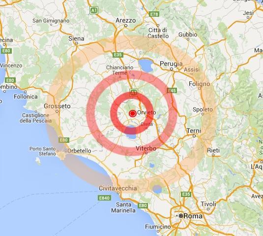 Terremoto magnitudo 4.1, trema il centro Italia, tra Toscana e Umbria