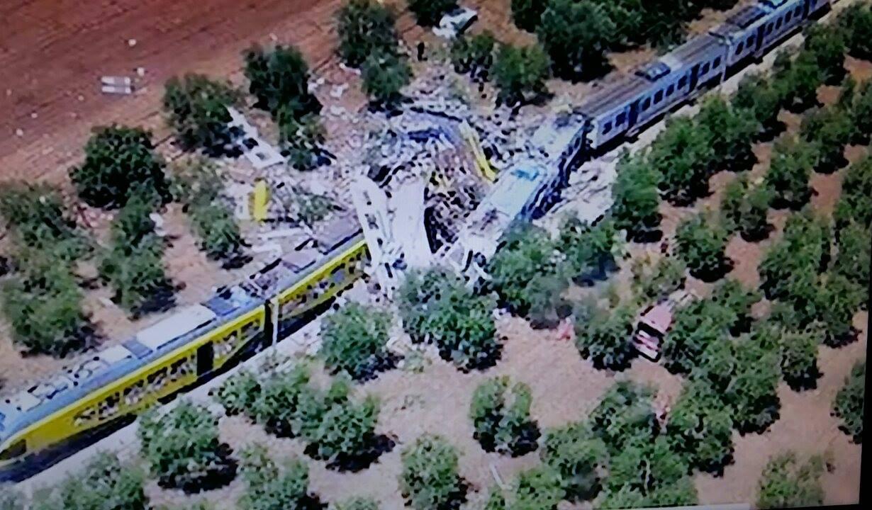 Disastro ferroviario in Puglia tra Corato e Andria - Fonte Sky TG