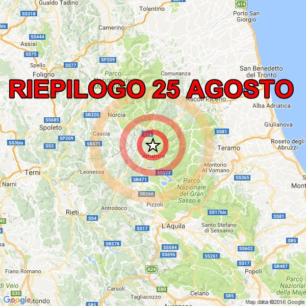 Serie di terremoti fra Lazio, Umbria e Marche : quasi 220 ...