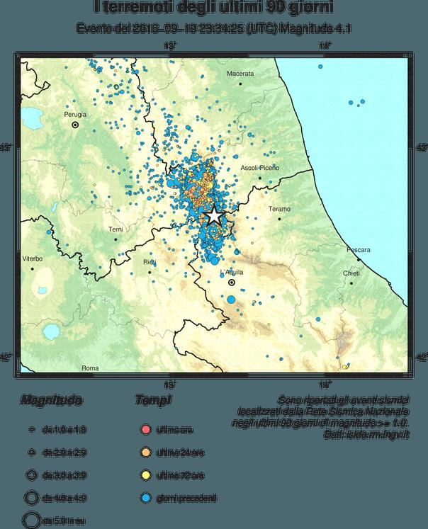 Terremoto Centro Italia, scossa di 3.8 tra Norcia e Arquata