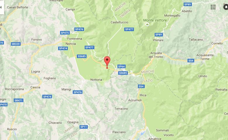 Terremoto Centro Italia: scossa magnitudo 3.9 tra Norcia e Accumoli