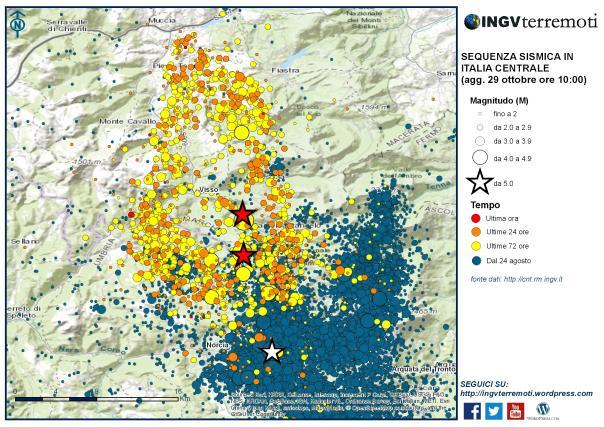 Terremoto: l'Ingv rivede stima scossa delle 7.41 a magnitudo 6.5