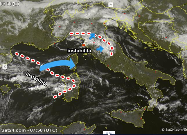 Allerta maltempo nel Lazio: temporali, grandine e vento