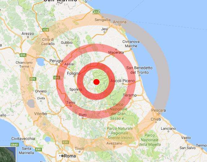 Scossa sismica 4.2 avvertita a Norcia