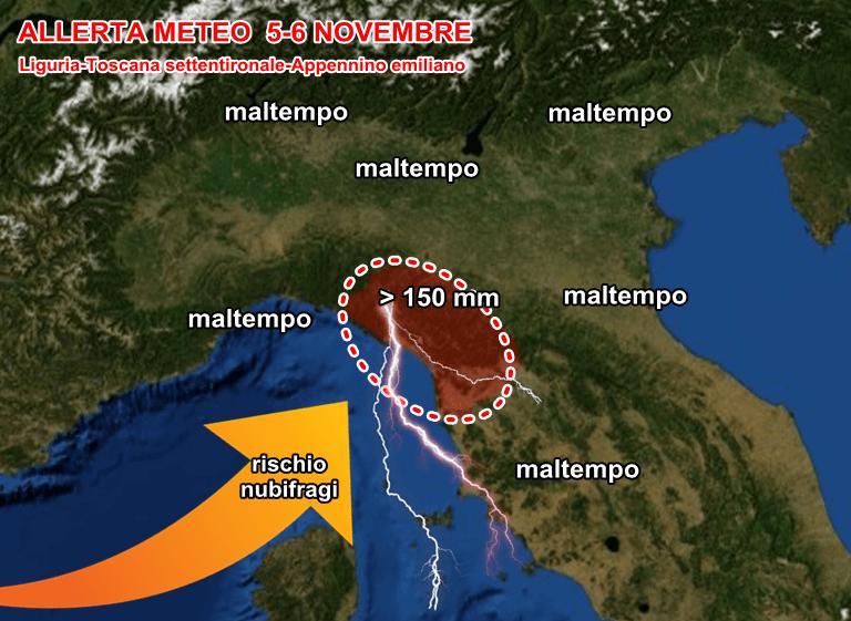 Maltempo Liguria: allerta meteo gialla a Genova