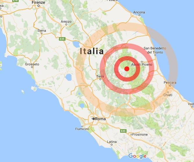 Fortissima scossa di terremoto nel centro Italia