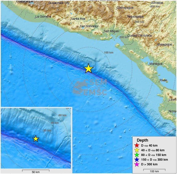 Nicaragua: terremoto di magnitudo 7.2