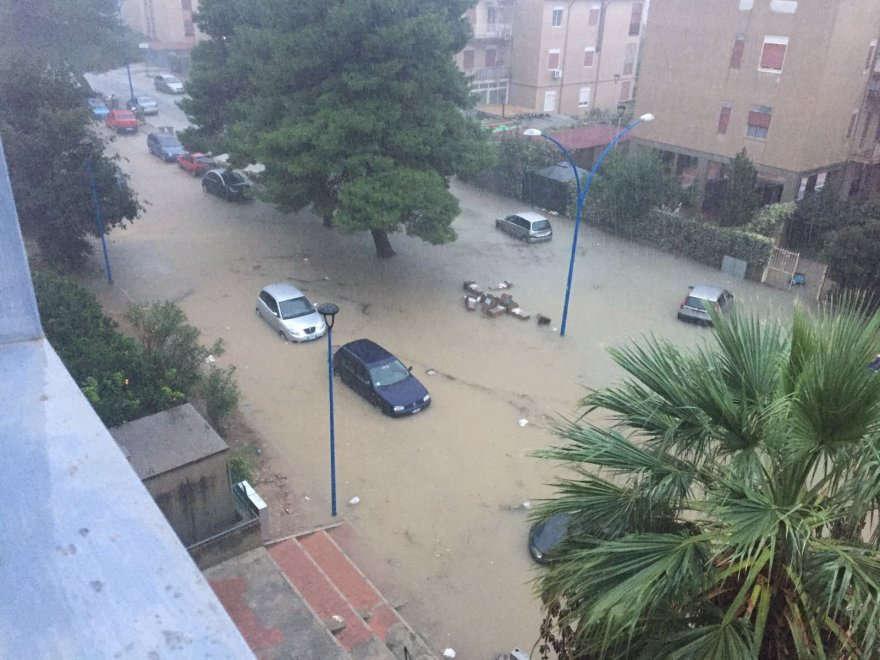 Maltempo nell'Agrigentino: strade chiuse e campagne inondate