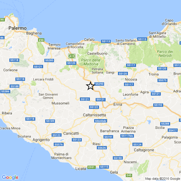 Caltanissetta : debole scossa di terremoto tra Resuttano, Santa Caterina Villarmosa, Bompietro, Blufi Terremoto-calta