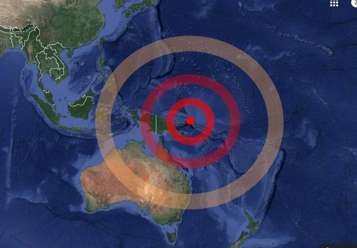 Terremoto di magnitudo 7,9 in Papua Nuova Guinea