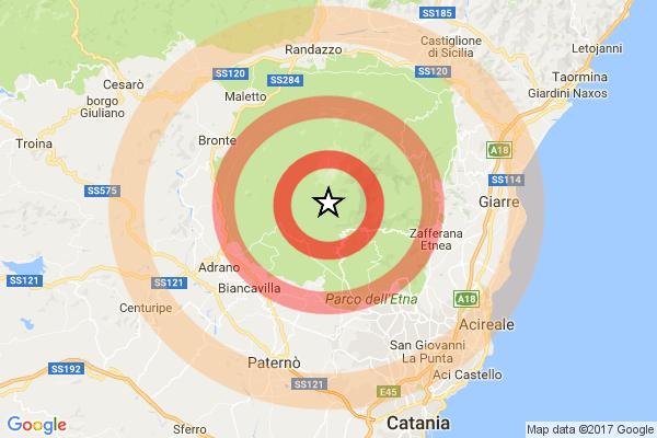 Terremoto, sciame sismico sull'Etna$