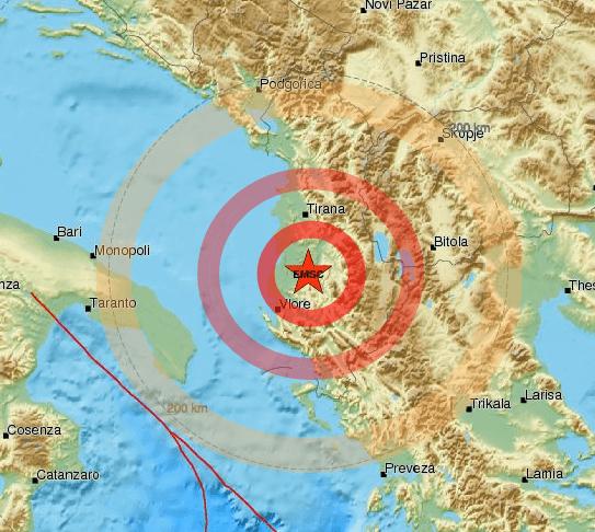 Terremoto fortissima scossa in Albania, trema la Puglia