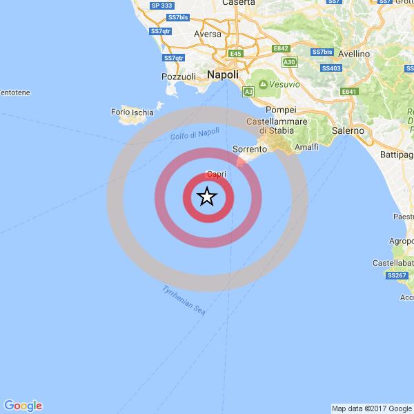 Lieve terremoto a largo di Capri, scossa avvertita anche in Costiera