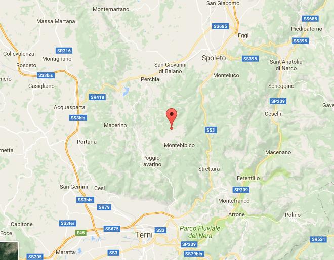 Terremoto, scossa di magnitudo 3.9 tra Spoleto e Ferentillo