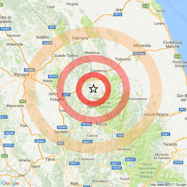 Terremoto: 18 scosse nella notte in Centro Italia, la più forte 4.4