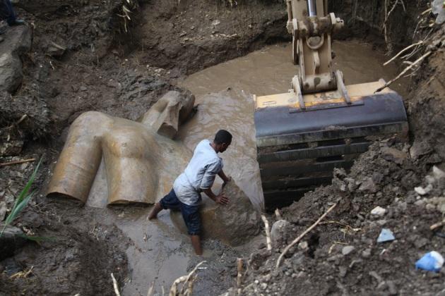 Egitto : ritrovata statua di Ramses II nella capitale Il Cairo