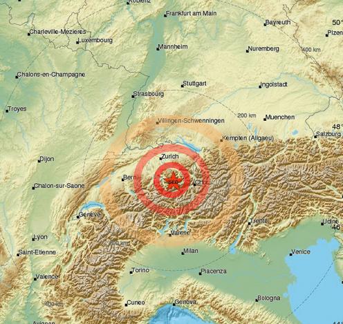 Scossa di terremoto in Svizzera Avvertita anche a Milano e nel Lecchese