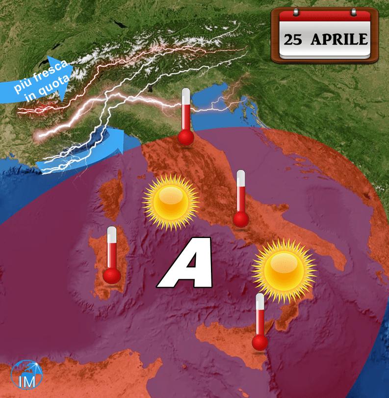 Previsioni meteo 25 aprile 2017: instabilità vs bel tempo, le zone interessate