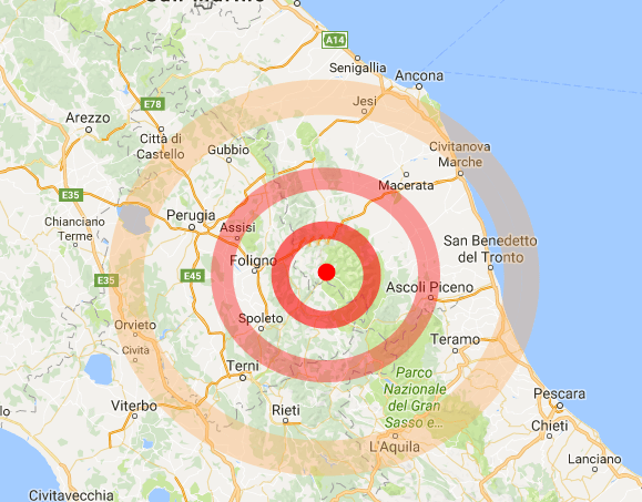 Terremoto Centro Italia, nuova scossa nella notte di magnitudo 4,1