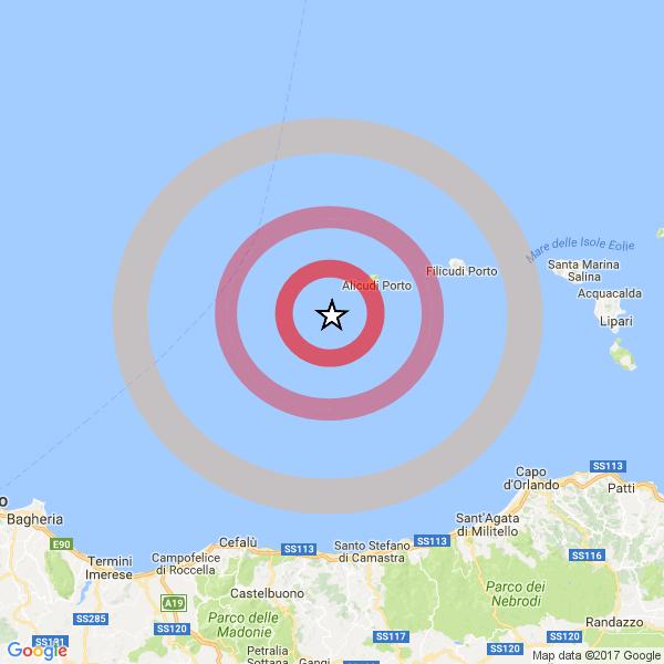Terremoto in Sicilia alle Isole Eolie: tre scosse magnitudo 3.4 e 3.8