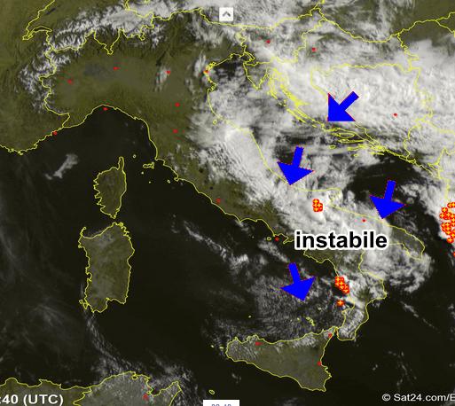 Meteo 21 Maggio: le piogge si spostano al Centro-Sud
