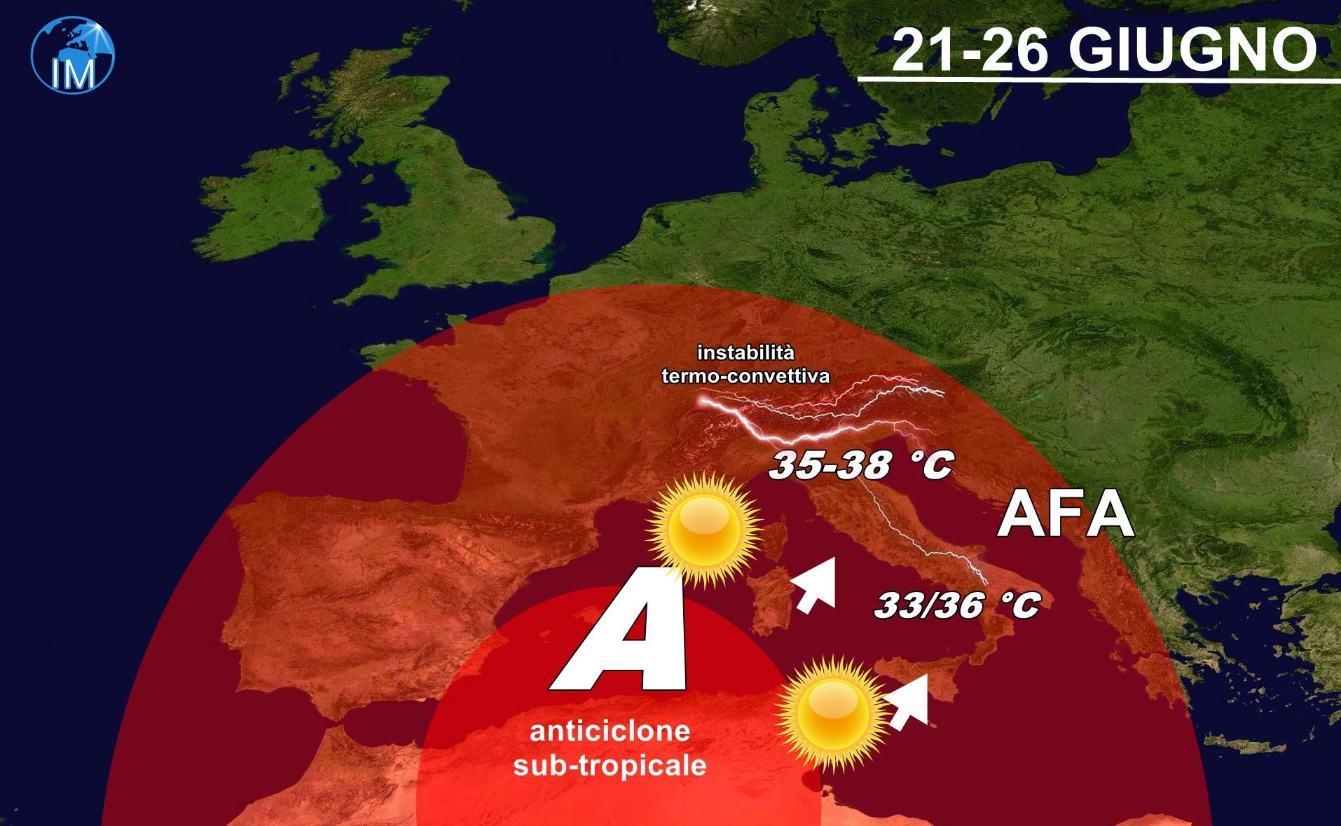 Previsioni meteo, caldo africano in arrivo: afa da mercoledì