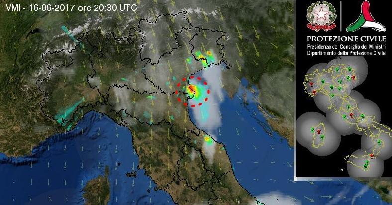 Maltempo: stato di attenzione per temporali su tutto il Veneto