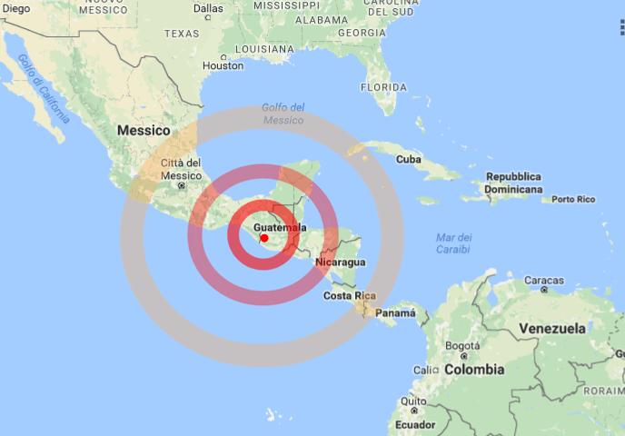 Violento terremoto di magnitudo 6.9 in Guatemala. Si temono danni