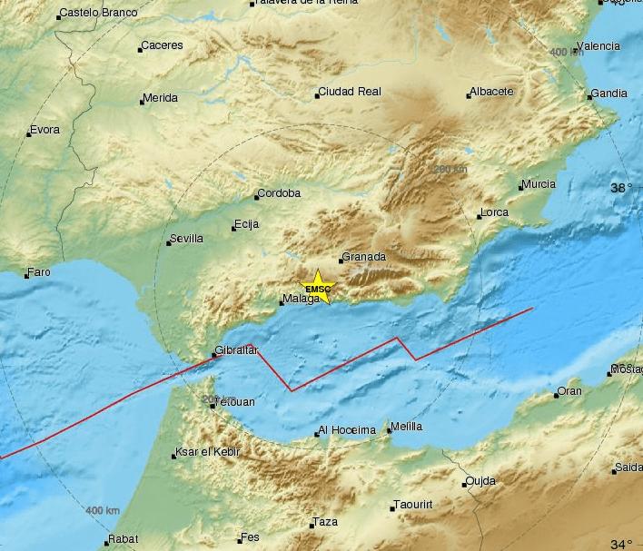 Malaga Spagna Cartina.Previsioni Meteo Malaga Spagna