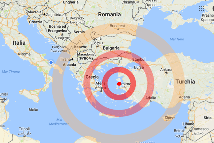 Turchia: terremoto 6.3 in costa Egea, avvertito a Istanbul
