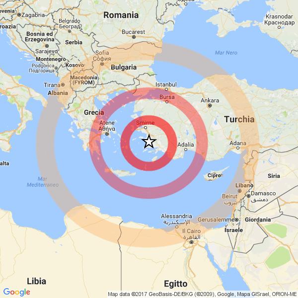 Scossa di terremoto a Verona e provincia
