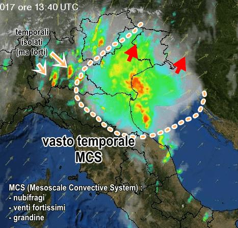 Maltempo, grandine e trombe d'aria in Veneto: un disperso e tre feriti