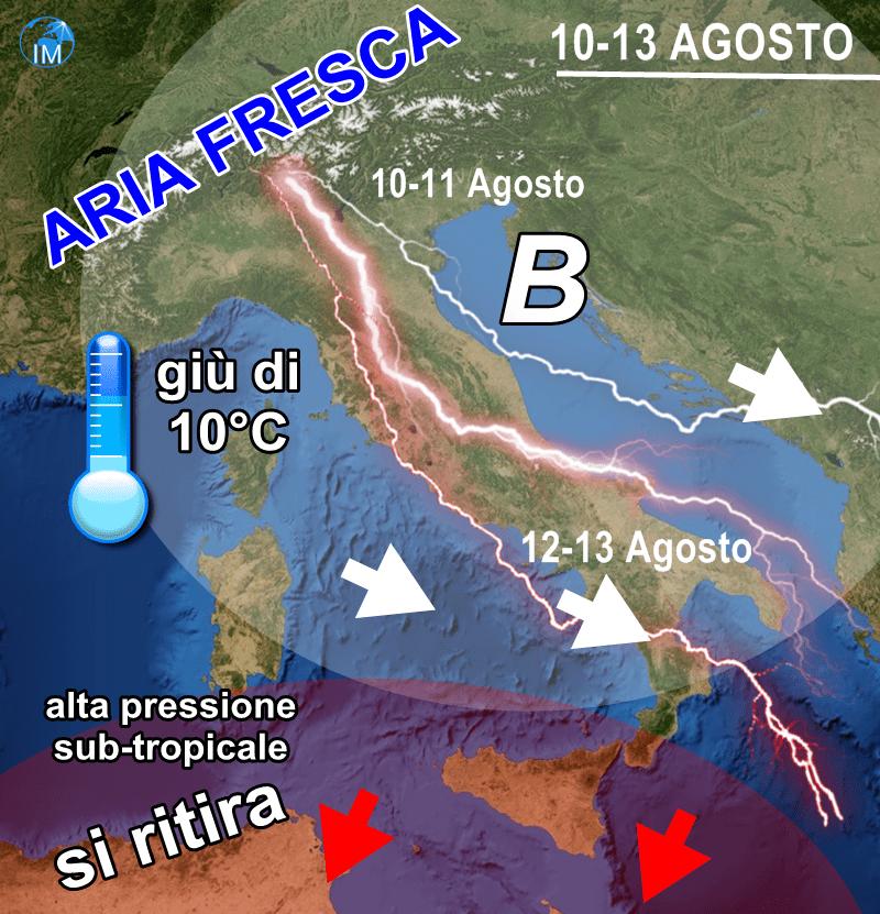 Meteo, il caldo dà una tregua: temperature in calo e temporali in arrivo al centro e al nord