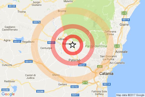 Due scosse di terremoto nella notte in provincia di Catania