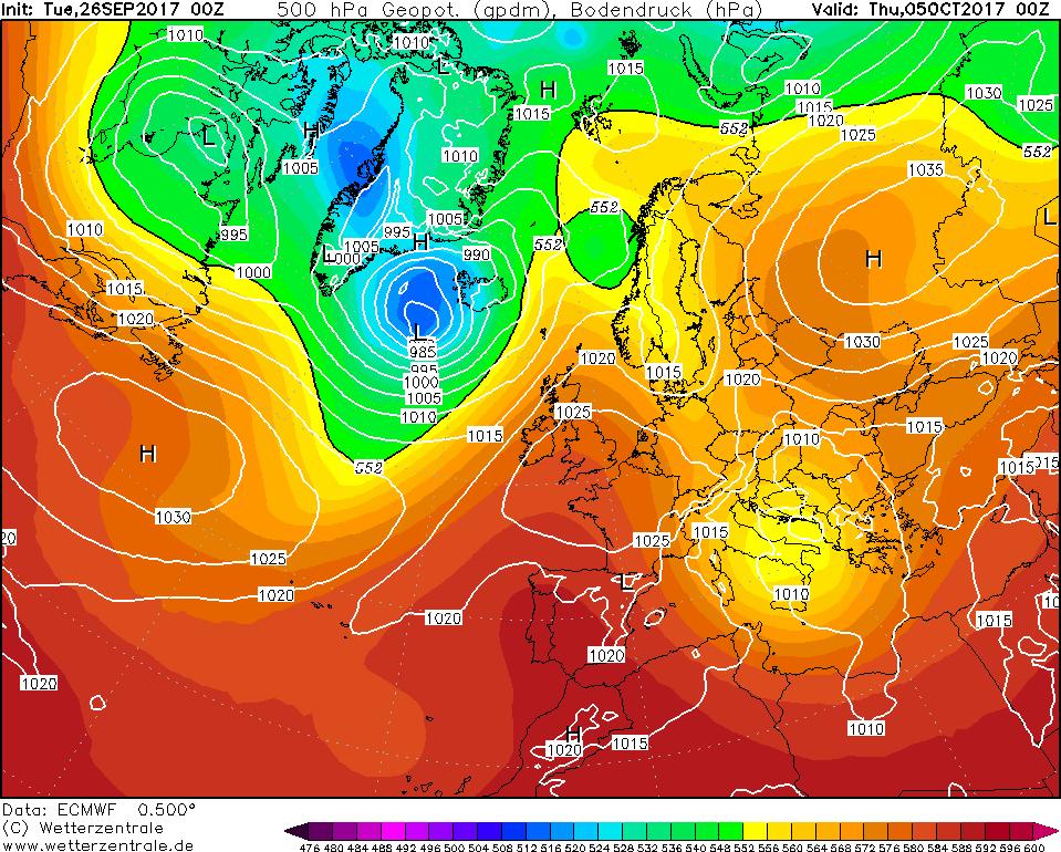 maltempo e meteo a lungo termine - modello ecmwf