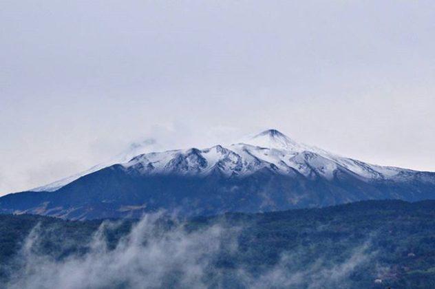 Neve Etna, la vetta imbiancata oggi 24 settembre 2017
