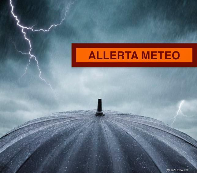 Previsioni meteo: forti temporali, allerta meteo al Centro Nord